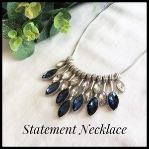 Jewelry - Blue and Silver Tones Statement Necklace